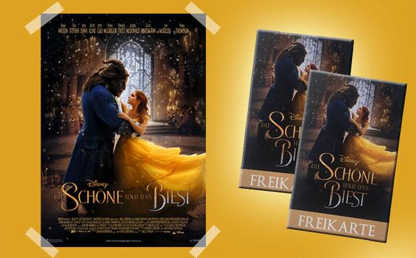 Die Schöne und das Biest, Großes Die Schöne und das Biest Gewinnspiel mit Kinokarten und Filmplakat