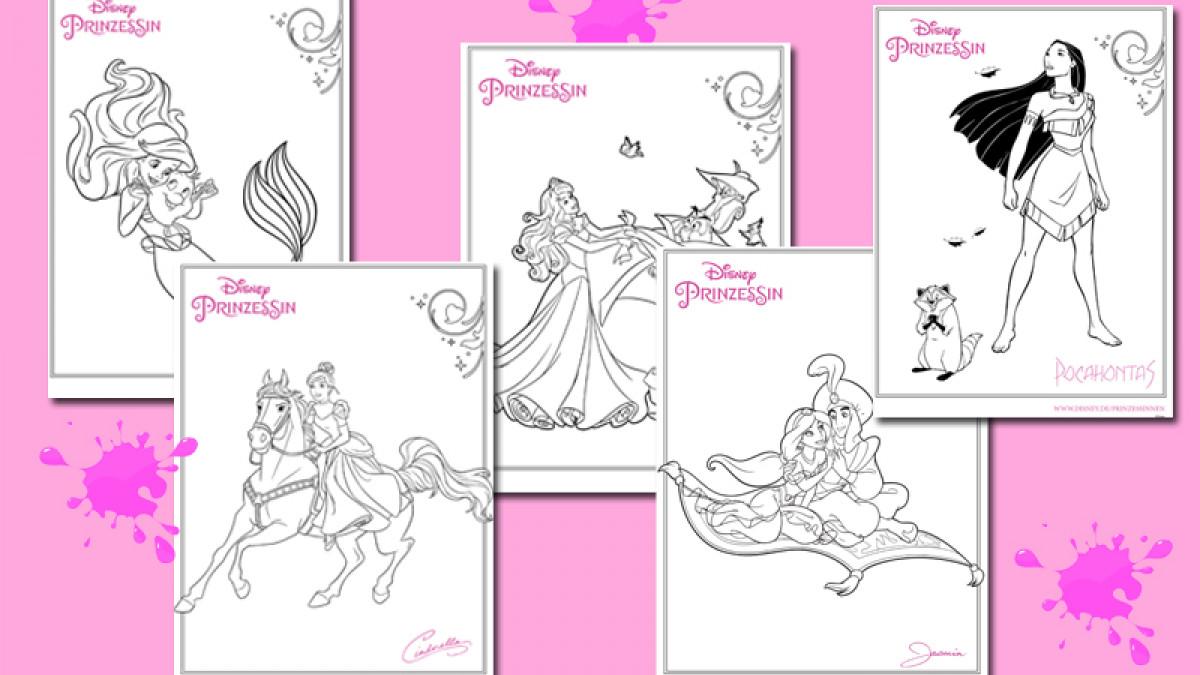 Disney News Ausmalbilder Von Den Beliebtesten Disney Prinzessinnen