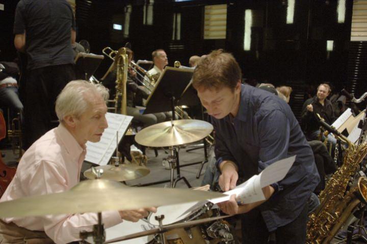 Charlie Watts und Gerard Presencer
