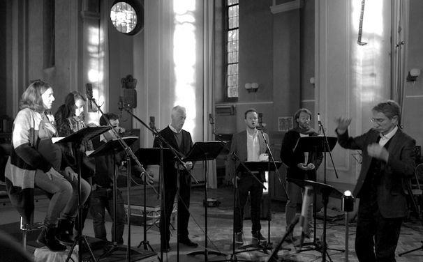 I Fagiolini, Monteverdis Gratulanten - I Fagiolini feiern Monteverdis 450. Geburtstag mit einer feinen Auswahl geistlicher Musik der Renaissance