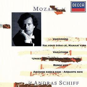 András Schiff, Mozart: Ah! Vous dirai-je maman Variations; Unser dummer Pöbel meint Variations; Adagio in B minor; Rondo in A minor; Eine kleine Gigue, 00028948323548