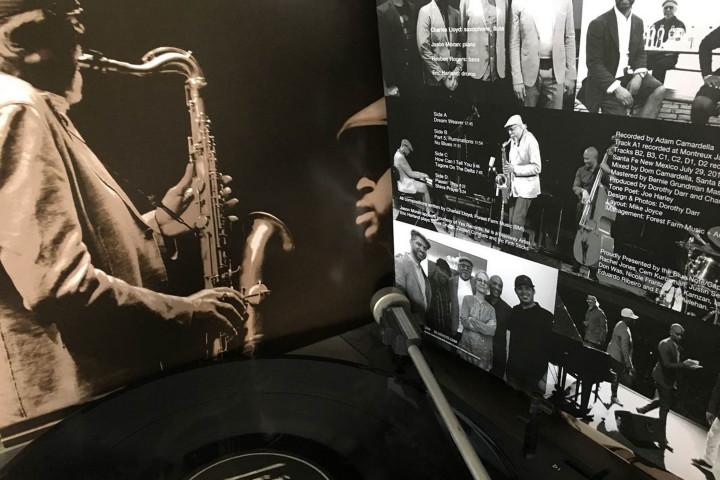 JazzEcho Plattenteller mit Charles Lloyd
