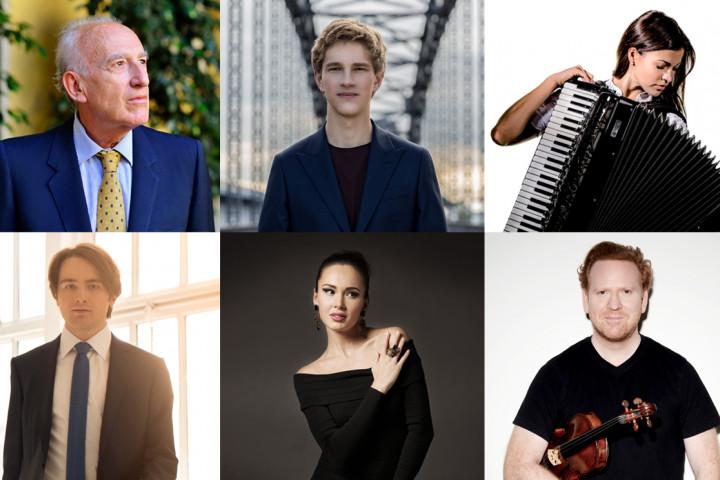 Maurizio Pollini, Jan Lisiecki, Ksenija Sidorova, Daniil Trifonov, Aida Garifullina, Daniel Hope