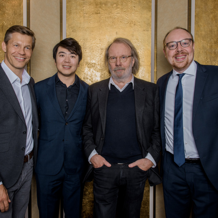 Frank Briegmann, Lang Lang, Benny Andersson, Clemens Trautmann
