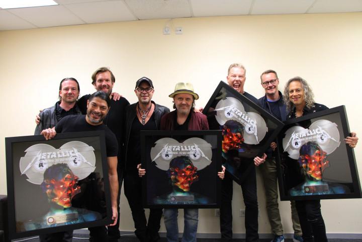 Metallica Doppelplatin Auszeichnung