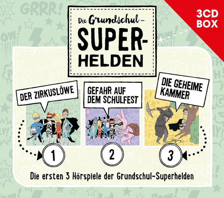 Die Grundschul-Superhelden 3-CD-Box Vol. 1