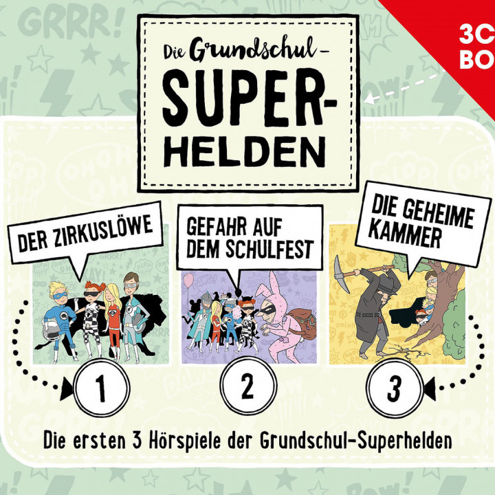 Die Grundschul-Superhelden 3-CD-Box Vol. 1