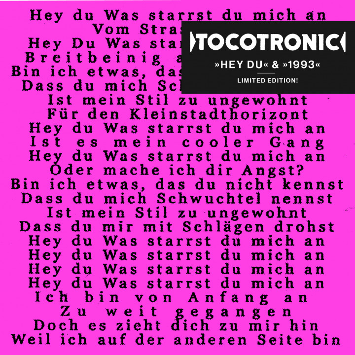 Tocotronic Hey Du / 1993 Cover 2017