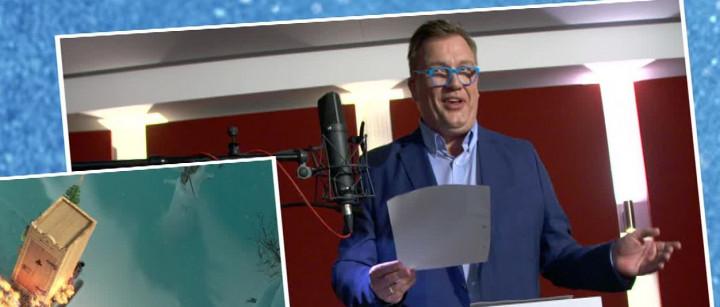 "Hape Kerkeling im Synchronstudio für ""Olaf taut auf"""