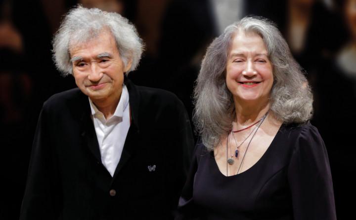 Seiji Ozawa und Martha Argerich