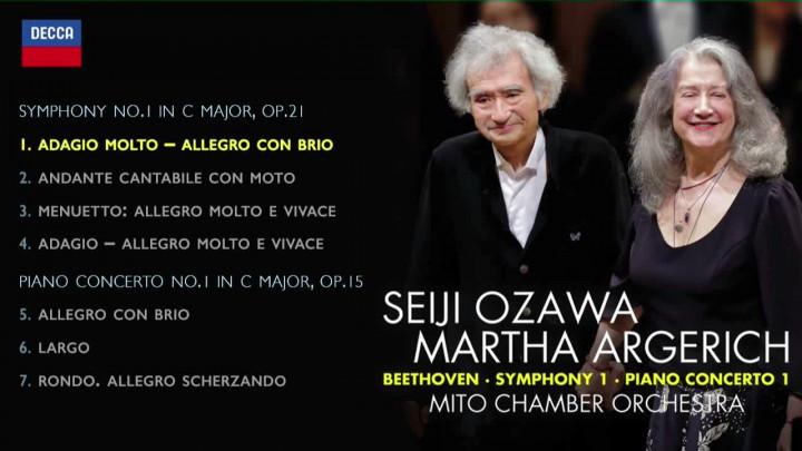 Beethoven: Symphony No.1; Piano Concerto No.1 (Album Sampler)