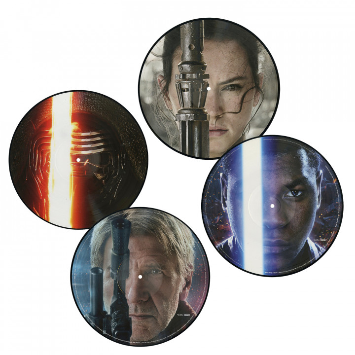 Star Wars The Force Awakens Picture Disc Cover