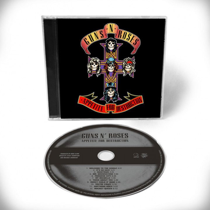 Appetite For Destruction CD Remaster Cover