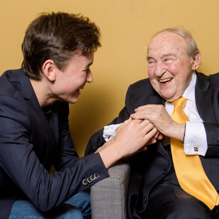 Daniel Lozakovich und Menahem Pressler
