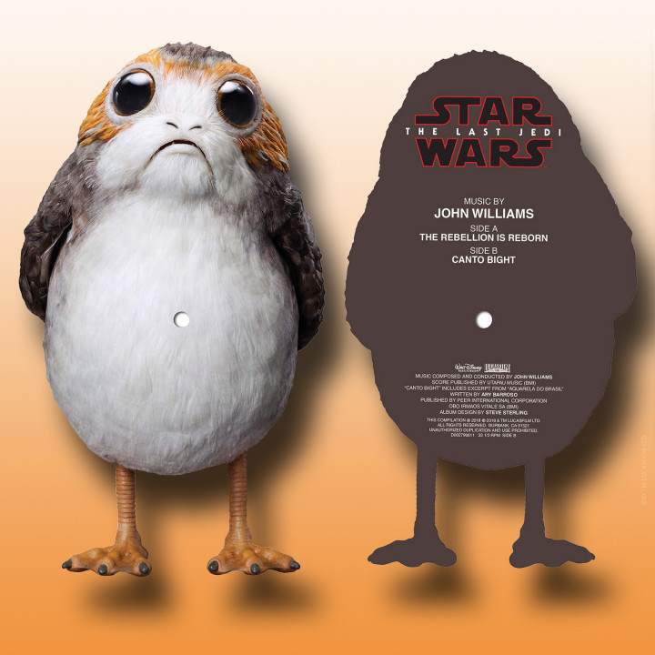 Star Wars Porg Picture Disc Cover