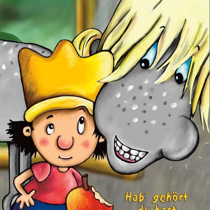 Der kleine König Geburtstagspostkarte 1
