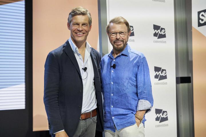 Musikikone Björn Ulvaeus (ABBA) und Universal Music President Central Europe Frank Briegmann sprechen in Stockholm über Zukunft der Musikindustrie
