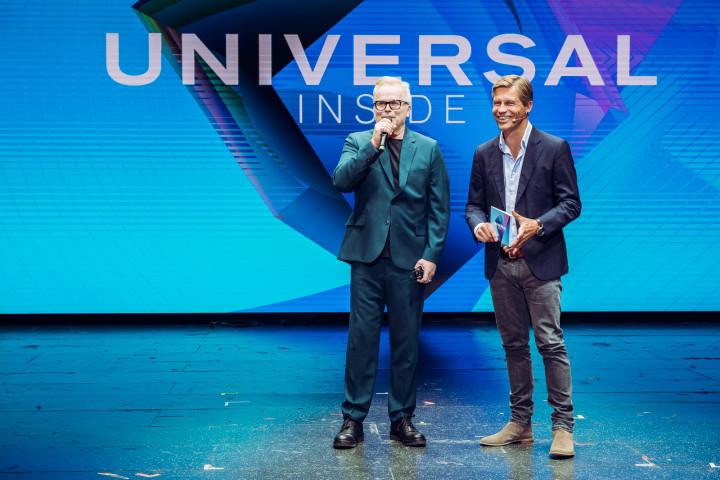 Herbert Grönemeyer und Frank Briegmann eröffnen gemeinsam UNIVERSAL INSIDE Tagung