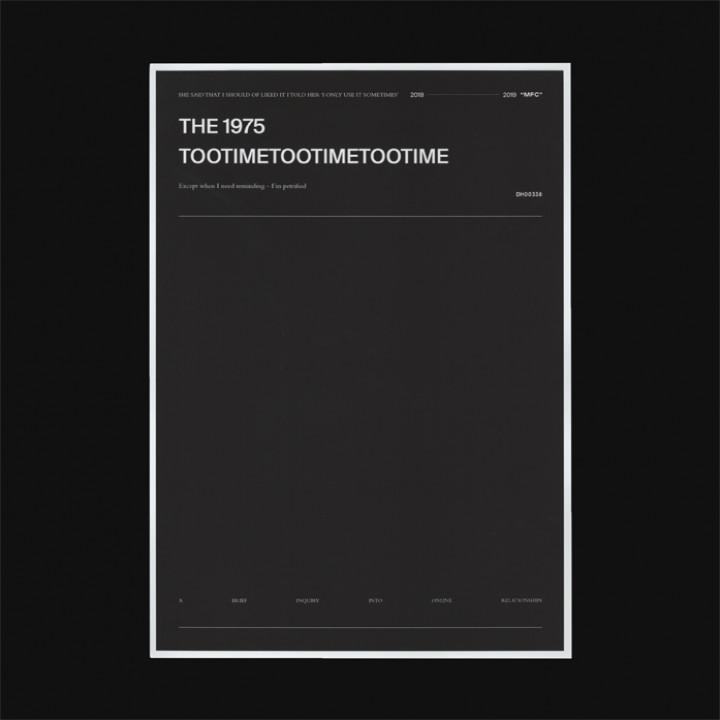 The 1975 - TOOTIMETOOTIMETOOTIME Single Cover