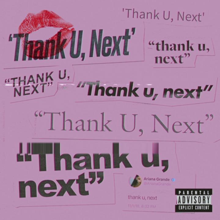 Ariana Grande - thank u, next Single Cover