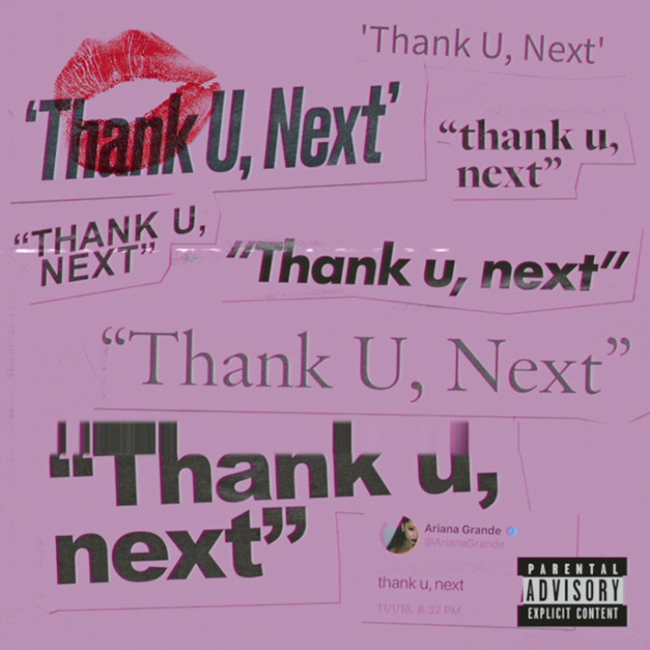 Ariana Grande - thank u, next Single Cover