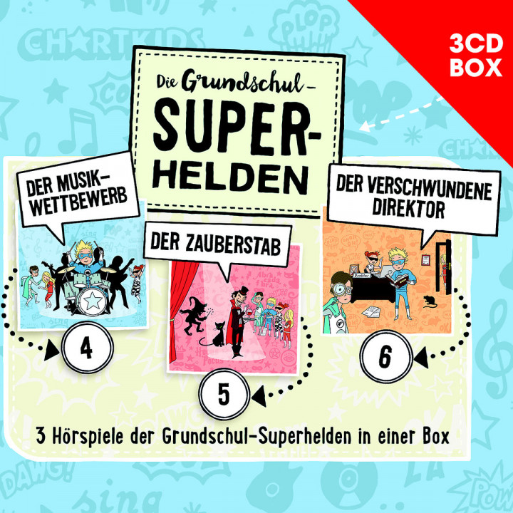 Die Grundschul-Superhelden 3-CD-Box Vol. 2