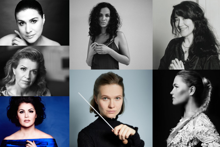 Cecilia Bartoli, Anne-Sophie Mutter, Anna Netrebko, Anoushka Shankar, Mirga Gražinytė-Tyla, Martha Argerich, Mari Samuelsen
