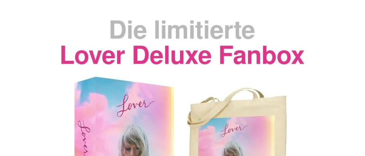 Taylor Swift Lover Deluxe Box Ad.