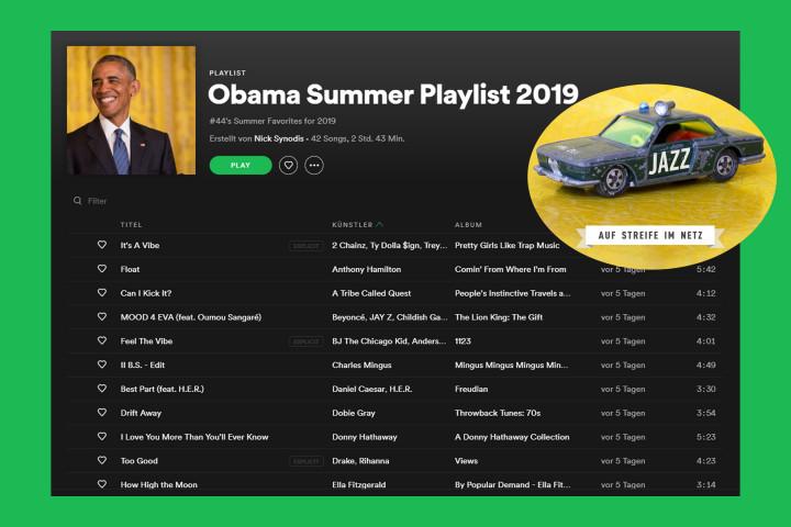 Spotify-Playlist Barack Obama