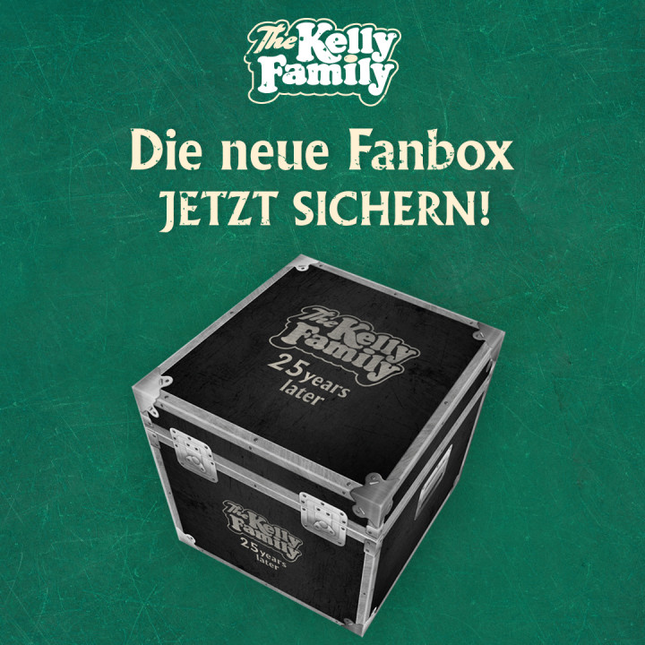 Kelly Family 25 years over the hump fanbox cover mockup