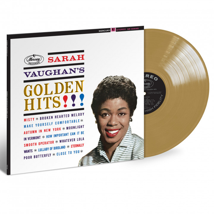 Sarah Vaughan Golden Hits LP Gold