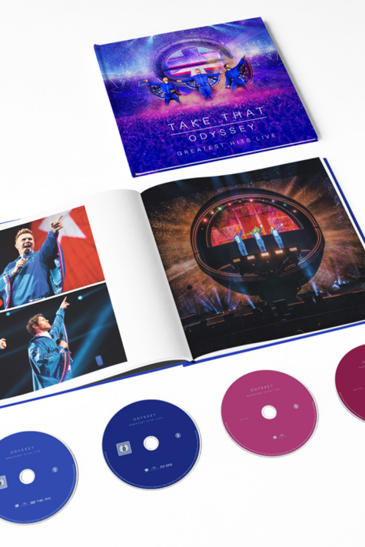 Take That Odyssey Greatest Hits Live DVD + 2CD + Blu-ray + Booklet