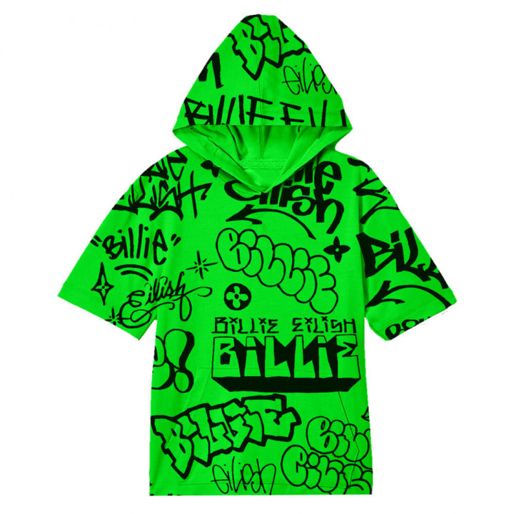 Billie Eilish x FreakCity Green Graffiti