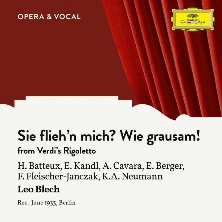 Verdi: Rigoletto: Sie flieh´n mich? Wie grausam!