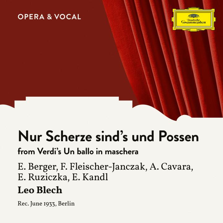 Verdi: Un ballo in maschera: Nur Scherze sind's und Possen
