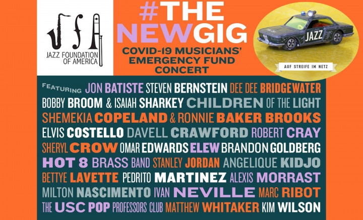 Auf Streife Im Netz - Jazz Foundation of America Benefizkonzert für den Covid-19 Musicians' Emergency Fund