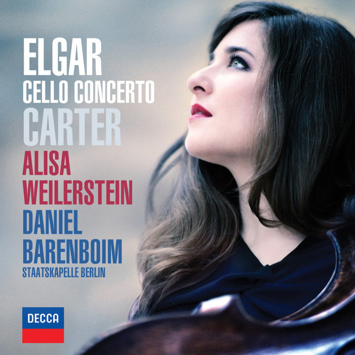 Elgar & Carter Cello Concertos - Barenboim Cover