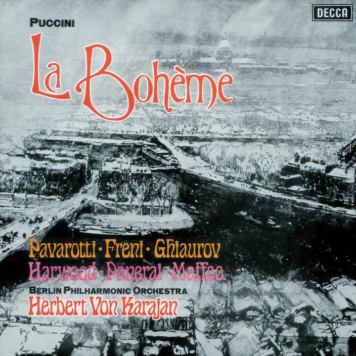 PUCCINI La Bohème / Freni, Pavarotti, Karajan Cover