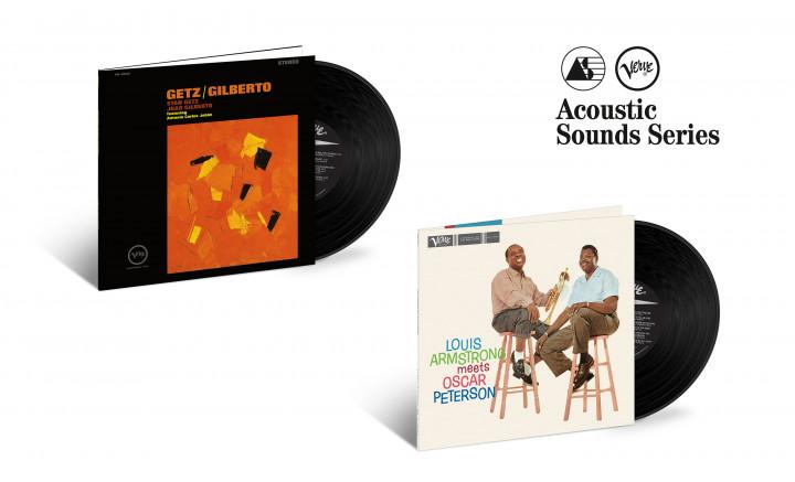 "JazzEcho-Plattenteller: Stan Getz & Joao Gilberto ""Getz/Gilberto"" / Louis Armstrong & Oscar Peterson ""Louis Armstrong Meets Oscar Peterson"""