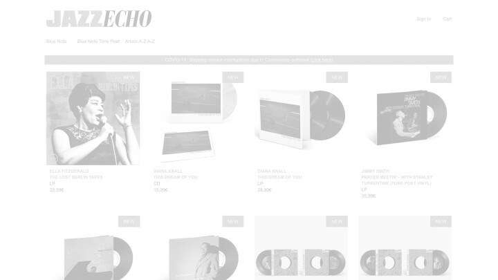 JazzEcho Store Preview