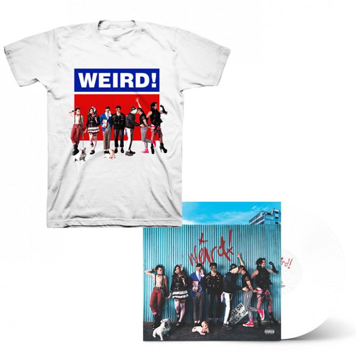 Weird! WHITE LP + SIGNED CARD + T-SHIRT
