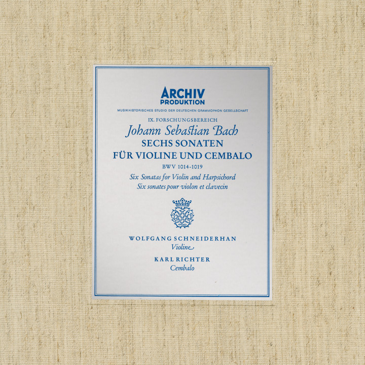 Bach, J.S.: Sonatas for Violin and Harpsichord BWV 1014-1019 Cover