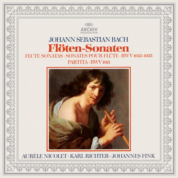 Bach: Partita BWV 1013, Flute Sonatas BWV 1033, 1034 & 1035 Karl Richter eAlbum Cover