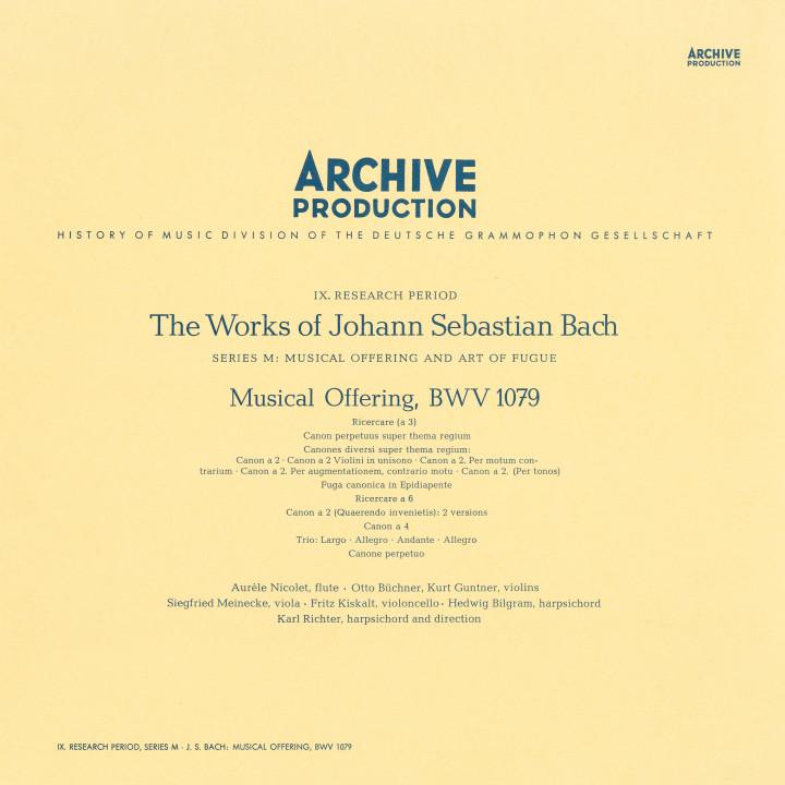 Bach: Musical Offering, BWV 1079 Karl Richter eAlbum Cover