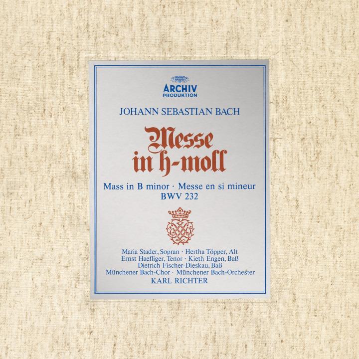 Bach: Mass in B Minor, BWV 232 (1961) Karl Richter eAlbum cvr