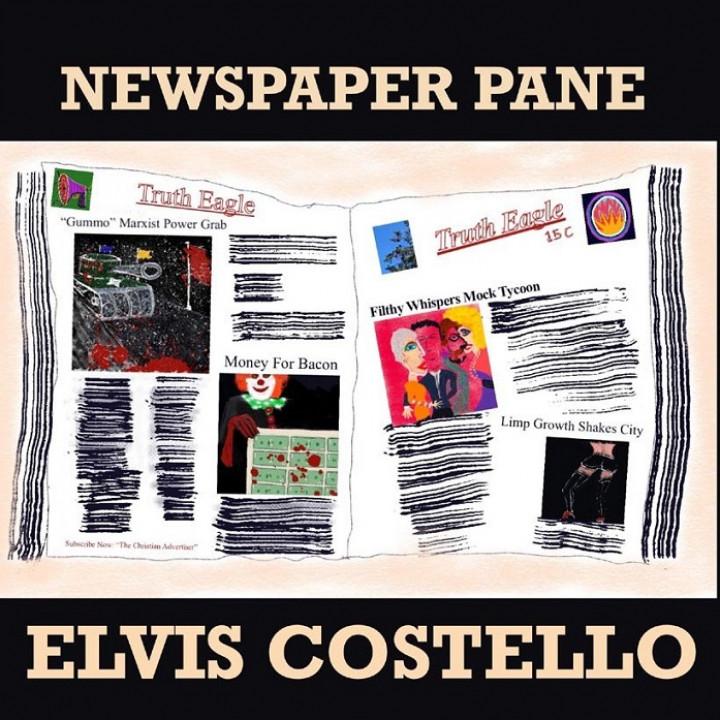 Elvis Costello Newspaper Pane