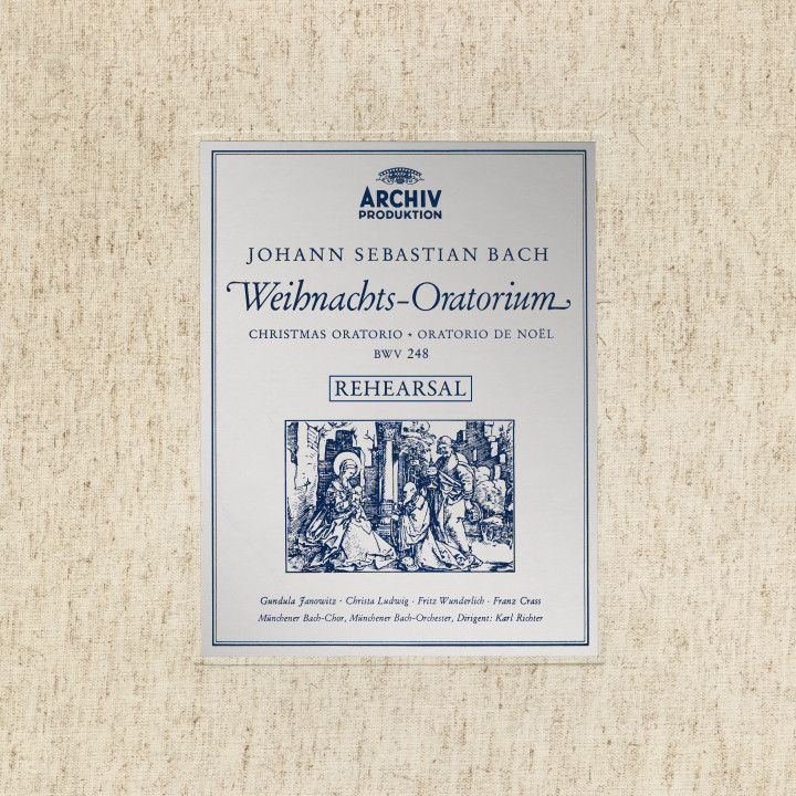 Karl Richter Rehearsal of J.S. Bach's Christmas Oratorio, BWV 248 eAlbum Cover