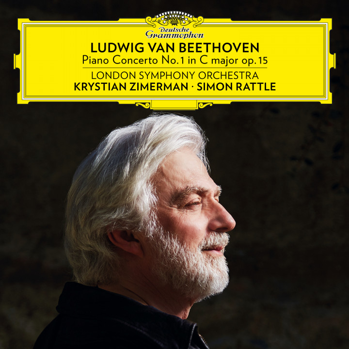 Zimerman Rattle Beethoven Concerto No. 1 cover