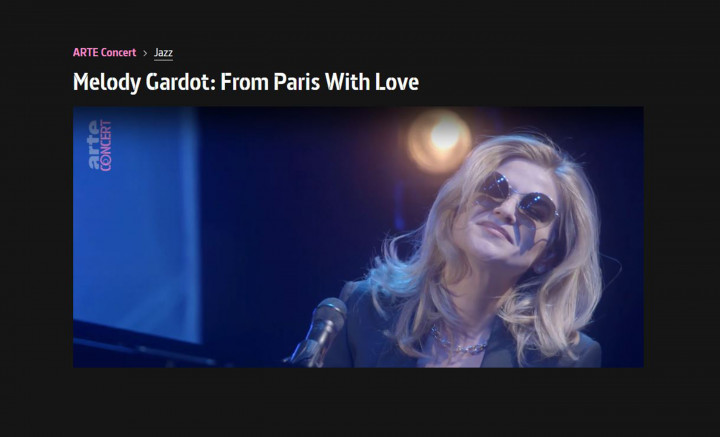 "Melody Gardot - ""From Paris With Love"" auf Arte Concert"