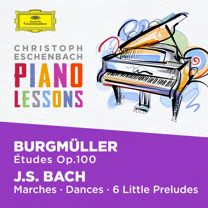 Eschenbach - Piano Lessons - Burgmüller: 25 Etudes Op. 100; Bach, J.S.: Six little Preludes, BWV 933-938, Various Piano Pieces Cover